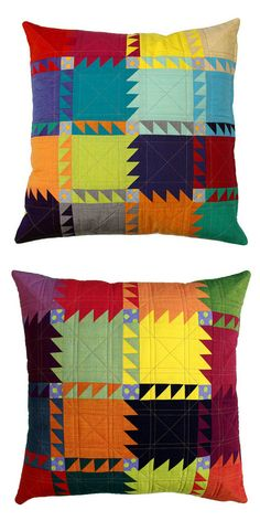 This is a listing for the Oakshott Bear Paw Pillow Cover Pattern (pdf file) ~   (useful references are included). It is a modern pattern based on just one traditional patchwork block with clever layout of colors to make this design sparkle.
