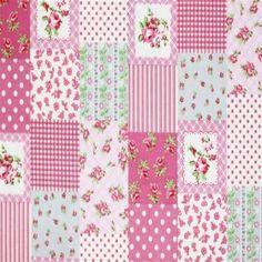 Child Fabric – Patchwork Pink