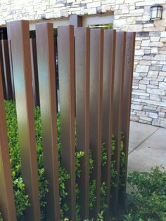 Metal fence...protection yet can be seen through...