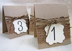 Rustic Burlap and Jute Twine Wedding Party Table by LoveofCreating, $35.00