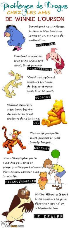 Problèmes de Drogue chez les amis de Winnie L'Ourson