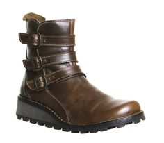 Buy Olive Leather Fly London Myso Strap Boot from OFFICE.co.uk.
