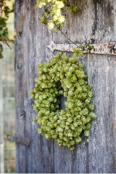 I love this hop wreath!