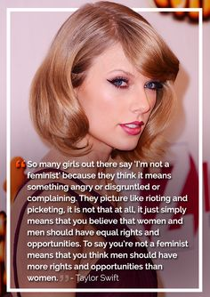 The Most Badass, Inspiring Celebrity Quotes About Feminism In 2014 Taylor Swift Girl Quotes, Woman Quotes, Top Quotes, 2015 Quotes, Dream Cars, Feminism Quotes, Equality Quotes, Taylor Swift Quotes, Beyonce