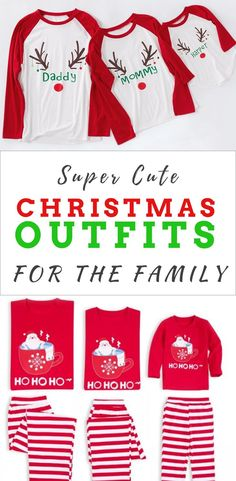 b2218d52 Christmas Outfits for the family - Get super cute christmas clothing sets  and shirts for baby, kid, mom and dad! Bring the christmas spirit wherever  you go ...