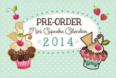 Mini Cupcake Calendar 2014 Wall Calendar Desk by sandragrafik, $16.00