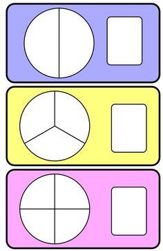 Os comparto un nuevo material que he creado para trabajar las fracciones. En él encontraréis 28 cortas más una serie de plantillas de fraccines en Math 4 Kids, Go Math, Preschool Math, Teaching Math, Fraction Activities, Math Activities, Math Fractions Worksheets, School Frame, Learning Numbers