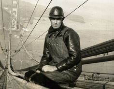 On February 17th, 1937, workers had to remove a wooden scaffold that had been built underneath the bridge platform. To reach it, workers hung a temporary catwalk. But the catwalk hadn't been attached properly, it broke off and plunged into the ocean, dragging the safety net with it. Ten men died in the fall from the bridge, including Fred Dummatzen, pictured.