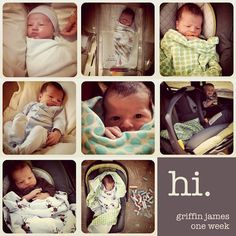 love this format for weekly updates on a baby week one - Kiddos at Home Newborn Pictures, Baby Pictures, Little Babies, Cute Babies, Our Baby, Baby Boy, Baby First Week, Baby Weeks, Everything Baby