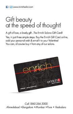 Happy #ValentinesDay!!!  Buy the Enrich #Gift Card online, add your personal wish & email it to your #Valentine!