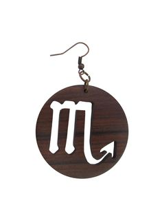 Handmade Luxury wooden jewellery Scorpio zodiac earrings BOLIVIAN rosewood by PremiumAccessory on Etsy