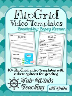 video Templates for Students (Rubric options) FlipGrid video Templates for Students (Rubric. by Fair Winds Teaching Flipped Classroom, School Classroom, Google Classroom, Online Classroom, Classroom Ideas, Teaching Technology, Educational Technology, Business Technology, Medical Technology