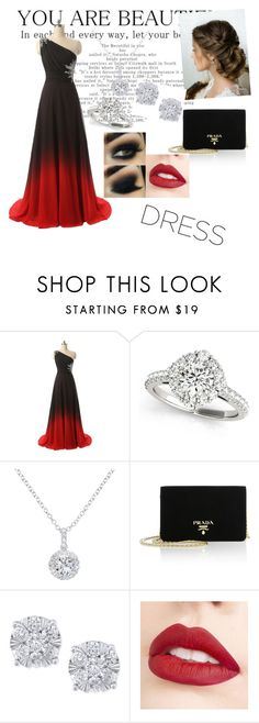 """Two toned"" by ryeseong ❤ liked on Polyvore featuring EWA, Prada, Effy Jewelry, Jouer and twotoneddress"