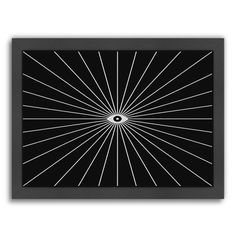 """East Urban Home Big Brother Invert Framed Graphic Art Size: 13.5"""" H x 16.5"""" W x 1.5"""" D"""