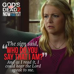 What has God told you? Comment below. Beloved Movie, Inspirational Movies, Gods Not Dead, Christian Movies, 2 Movie, Movie Trailers, Holy Spirit, Savior, Comforter