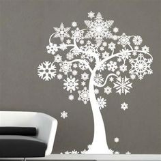 Creative Christmas Wall Stencil and Wall Stickers Decorating Ideas