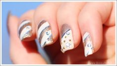 """ 'Tis the Season!""    ( nail art nails gold white seasonal christmas ) sglrpick"