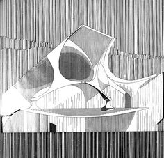 RNDRD is a frequently-updated partial index of architectural drawings and models scanned from design publications throughout the century. Architecture Drawings, Landscape Architecture, Architecture Design, Section Drawing, Postmodernism, Drawing Sketches, 3 D, Abstract, Small Houses