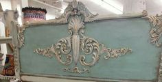 Make your own headboard similar to this one by using carved wood appliques from Wild Goose Carvings. See our range of wood onlays and appliques at www.buycarvings.co.uk