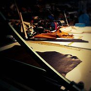 "The Leather Laboratory. Born here the ""moYma legendary Bags"""