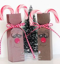 Reindeer Candy Cane Boxes