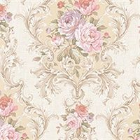 by Seabrook Designs featured in Damask Folio, Traditional Wallpaper Shabby Chic Wallpaper, Go Wallpaper, Damask Wallpaper, Pattern Wallpaper, Tapestry Wallpaper, Shabby Chic Farmhouse, Shabby Chic Homes, Shabby Chic Decor, Vintage Diy