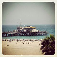 Manhattan Beach Pier Los Angeles, California Palm Tree, Pacific Ocean, sand, beach