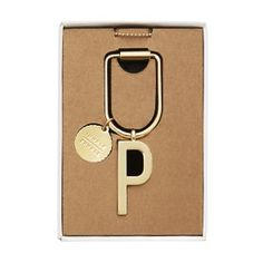 LIMITED EDITION ALPHABET KEY RING P: GOLD