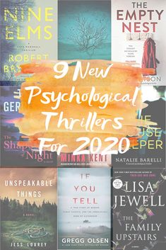 9 NEW PSYCHOLOGICAL THRILLERS FOR 2020 - 9 new psychological thriller books to read this year that will keep you on the edge of your seat! ////You can find your book just by clicking on the image Books You Should Read, Best Books To Read, New Books, Best Fiction Books, Good Books To Read, Best Book Club Books, Recommended Books To Read, Historical Fiction Books, Perfect Strangers