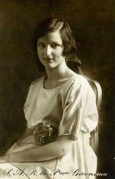 Prinzessin Giovanna von Italien, Princess of Italy future Queen of Bulgaria 1907 – 2000 | Flickr - Photo Sharing!