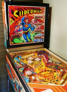 Atari tried to break into the pinball market in the late 70's/early 80's with pretty limited success. Nonetheless this Superman game was a favorite of mine for a while.