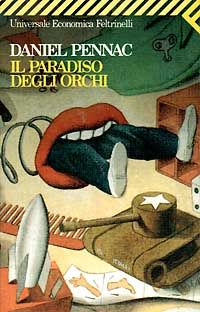"""""""Il paradiso degli orchi"""" Daniel Pennac.  Un libro che mi piace molto e che mi ha fatto scoprire ed amare questo scrittore. Ancora prima del libro forse ho amato il suo personaggio, Benjamin Malaussene un capro espiatorio di professione...un misto di fantasia e originalità per lui, la sua famiglia e la sua storia...geniale."""