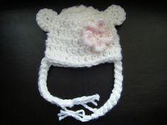 BlM Crafts & Creations: Little Bear Hat - Newborn - Free Pattern