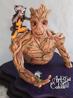 """Groot and Rocket """"Guardians of the Galaxy"""" Cake Con Collab  by Heather -Art2Eat Cakes- Sherman"""