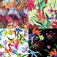 Hot Tropics inspired Patternbank Studio Designs by: Camila Coelho, Green Paz, Hye Min-g, Little Cloud