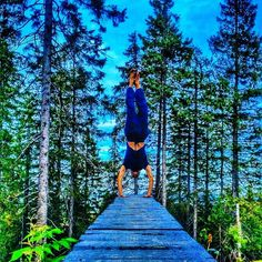 On a wood trail in Oslo, Norway ? Irreal pic and handstand from the strong daddy @theyogafather   @theyogafamily credit  Want to be the next yogi in the gallery? Use #whereismymat - - - - - - - - - - - - -  #yoga #yogi balance #handstand #yogadudes #yogaformen #bearded #forest #calisthenics #namaste