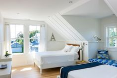 Coastal Bedroom Kids White Knee walls