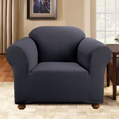 surefit simple stretch subway armchair slipcover