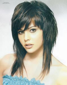 Got this hairstyle and it is my favorite style.  Great for oval face.