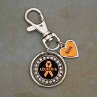 Custom Loved One Leukemia Awareness Key Chain