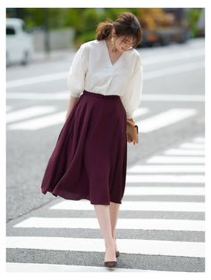 Long Skirt Outfits, Casual Work Outfits, Modest Outfits, Simple Outfits, Classy Outfits, Stylish Outfits, Casual Dresses, Circle Skirt Outfits, Elegant Dresses