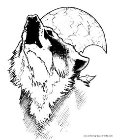 Free Printable Coloring Pages For Adults | More free printable Wolves coloring pages and sheets can be found in ...