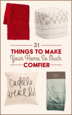 31 Things To Make Every Room In Your House More Comfortable Comfy Cozy Home, Cozy Bed, King Bedding Sets, Luxury Bedding Sets, Modern Bedding, Interior Doors For Sale, Gifts For Your Sister, Natural Bedding, How To Make Bed