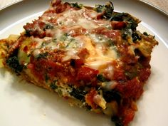 spinach ricotta eggplant/zucchini lasagna - drool worthy healthy vegetarian dinner = win!!