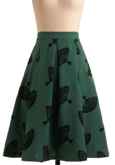 I'm normally not into modcloth stuff, but I love this skirt.  The color and the print and the style are all very cool.