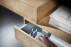 Geo bathroom storage drawer units in eton oak Fitted Bathroom Furniture, Uk Brands, Drawer Unit, Bathroom Storage, Geo, Drawers, The Unit, Wall, Home Decor