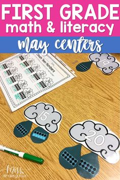 Make the most of your time management by grabbing these printable first-grade math and literacy centers! These May centers are a great addition to your spring literacy rotations! Students can practice sight words, reading and math skills with these hands-on activities! #play #literacy #rotations