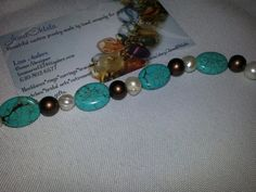 Bracelet Turquoise and Pearls by JewelOhlala on Etsy