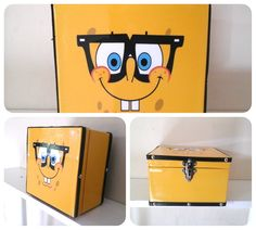 caixa organizadora Bob esponja