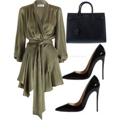 Untitled #204 by itsmsfashionista on Polyvore featuring polyvore, fashion, style, Christian Louboutin, Yves Saint Laurent and clothing